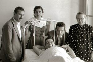 Lido di Venezia Giugno 1955 con suoi parenti