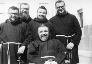 Salsomaggiore 1965 con i suoi confratelli (da sinistra) Agostino Alberto Alessandro e Fiorenzo